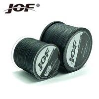 Jof супер крепкая ПЭ плетеная проволока черный многоцветный 300 м 500 м 1000 м 4 пряди леска 18-80 фунтов плетеная веревка Карп окунь сома