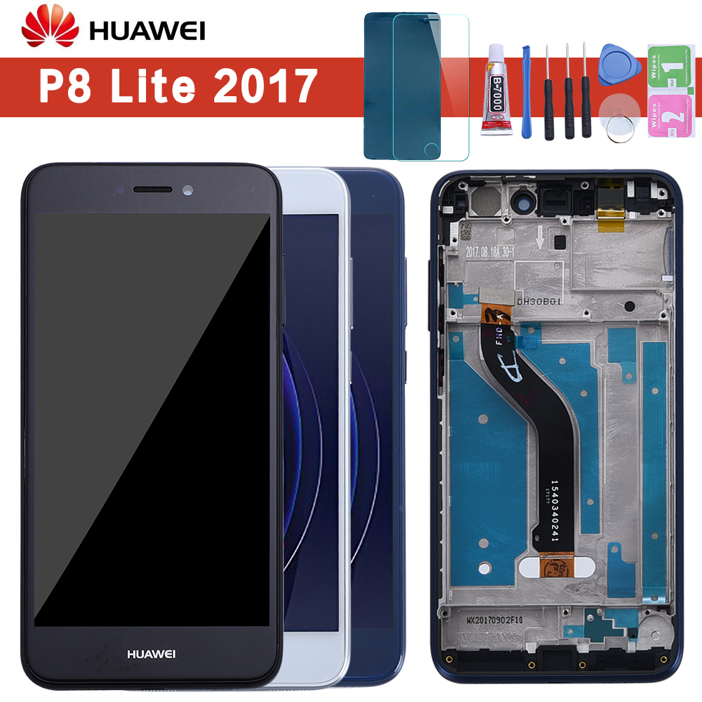 For Huawei P9 Lite 2017 LCD Display Touch Screen For Huawei P9 Lite 2017 LCD With Frame P8 Lite 2017 PRA LA1 LX1 LX2 LX3