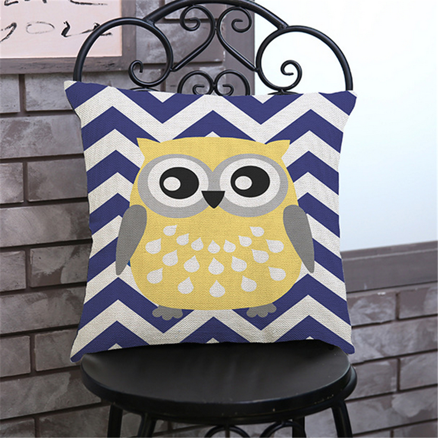 ✓Owl Sofa Cushion Cover Decorations For Home Decor Car Styling