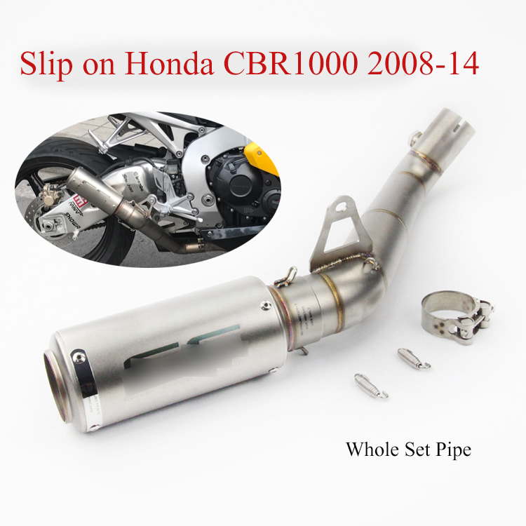 Slip CBR1000RR Motorcycle Exhaust System Pipe Exhaust Pipe Mid Middle Pipe Link Tube for Honda CBR1000RR 2008-2011 2013-2016Slip CBR1000RR Motorcycle Exhaust System Pipe Exhaust Pipe Mid Middle Pipe Link Tube for Honda CBR1000RR 2008-2011 2013-2016