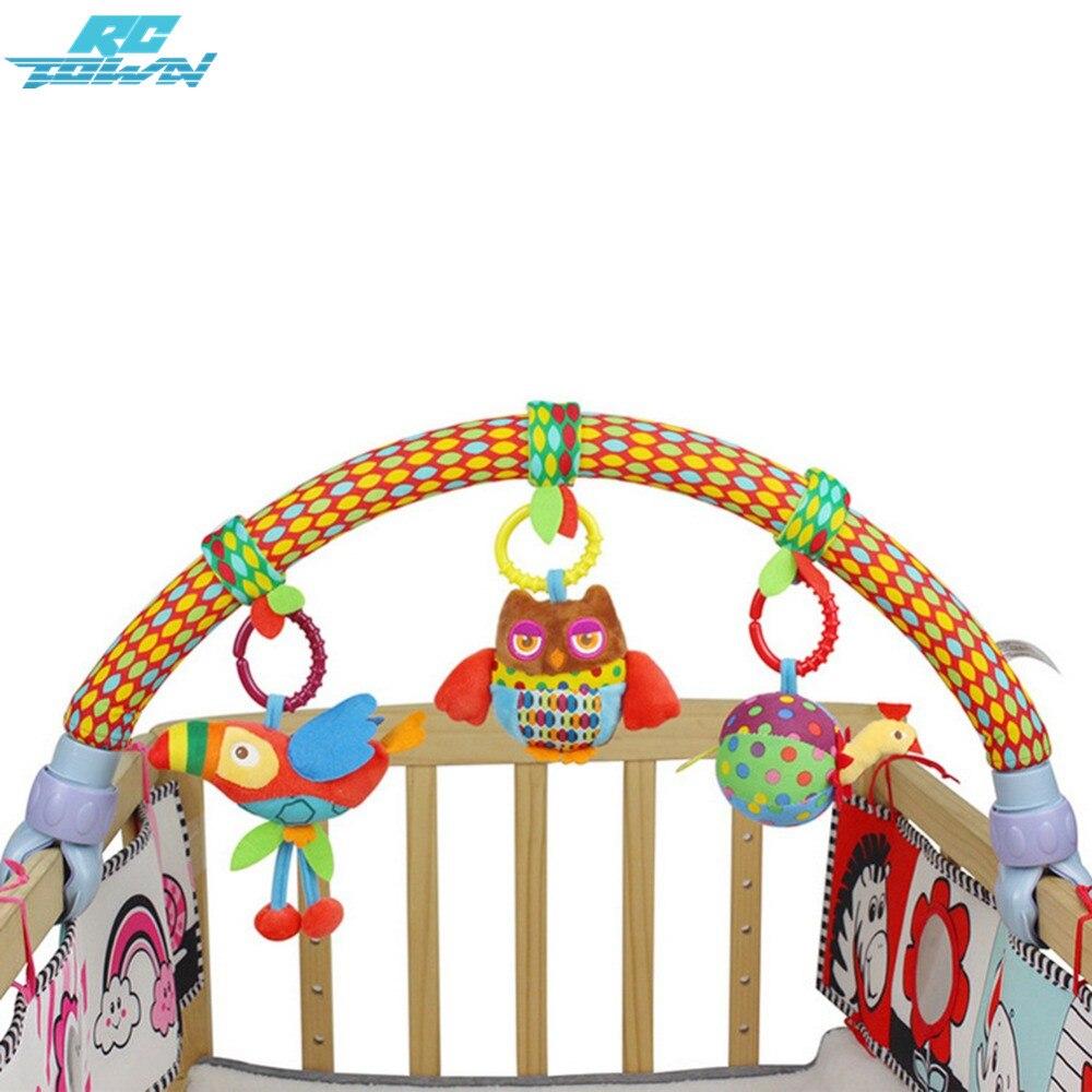 Rctown милый лес ткань животных Товары для птиц Игрушечные лошадки для путешествия игровой арки деятельность бар для коляски кроватки zk30