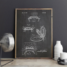 Pósteres e impresiones Vintage con patente de asiento de inodoro, cuadro sobre lienzo para pared, ideal como regalo, imagen para baño, decoración del hogar