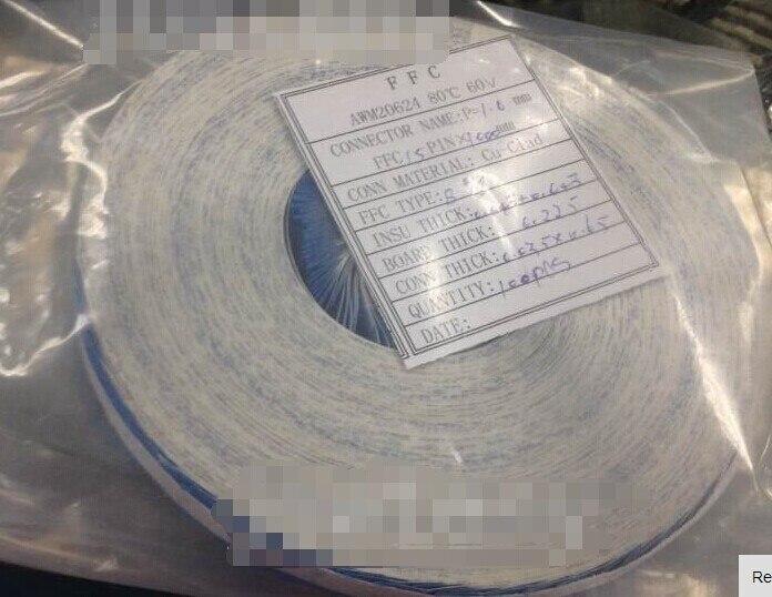 Free Shipping Flex Ribbon FFC Cable 1.0mm 15pin 100cm AWM 20624 80C 60V VW-1 Type B