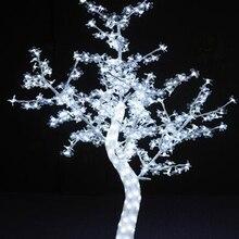 5 футов светодиодный светильник на Рождество и год с кристаллами, цветущая вишня, дерево с белыми листьями, на открытом воздухе, 558 светодиодный s