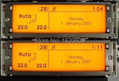 Écran Support USB Double-zone Air Bluetooth Affichage Jaune moniteur 12 broches pour Peugeot 307 407 408 pour citroen c4 C5 écran