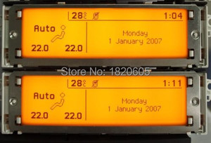 Image 1 - Screen Support USB Dual zone Air Bluetooth Display Yellow monitor 12 pin for Peugeot 307 407 408 for citroen C4 C5 screen