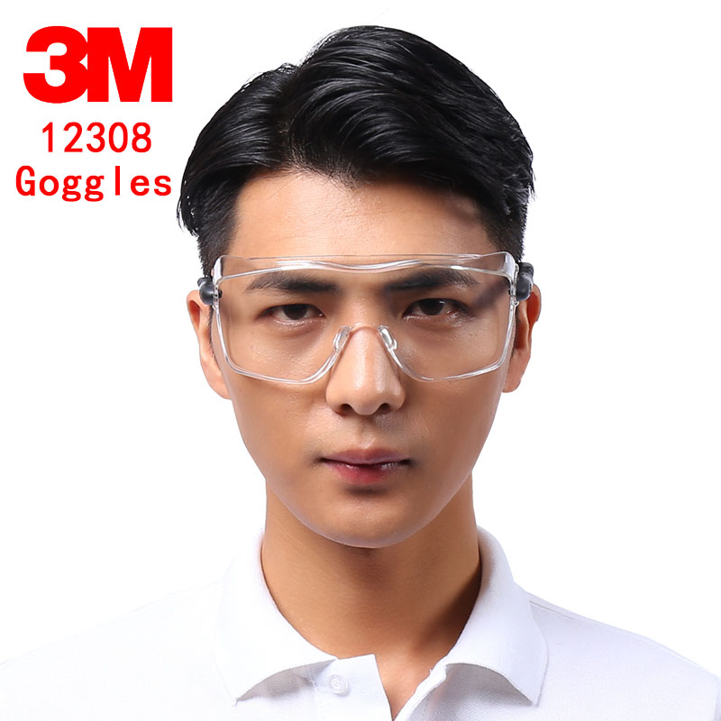 3M 12308 Multi-purpose Goggles Genuine Security 3M Safety Goggles Can Be Worn Nearsighted Glasses Protect Glasses