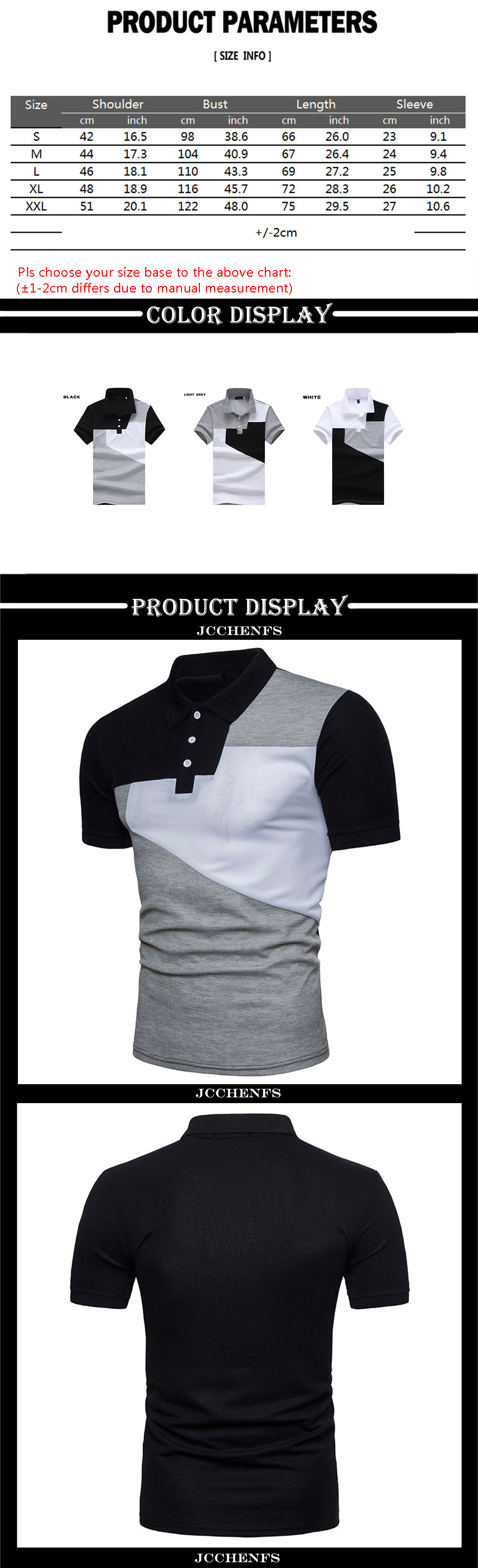 885f0ea8ef38 Patchwork Slim Summer Cool POLO Shirt Men Brand Casual Men s ...