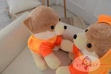 middle lovely plush Pomeranian toy new orange Pomeranian dog doll gift about 35cm