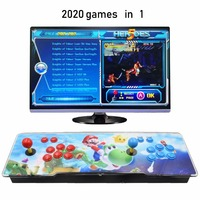 Newest box 1388/2020 in 1 game arcade console usb joystick arcade buttons with pause 2 players control machine pandora box 6S HD