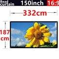 Tela de projeção de 150 Polegadas 16:9 Tela da cortina Do Grânulo High-definition2.8 Ganho Montado Na Parede para todos os Baixo brilho led projetor dlp