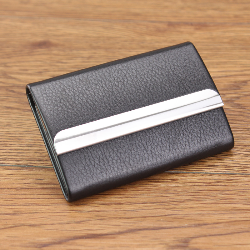 New card case box metal women men portable pocket big capacity new card case box metal women men portable pocket big capacity businessmen credit id cards visiting card holder wallet carteira in card id holders from colourmoves