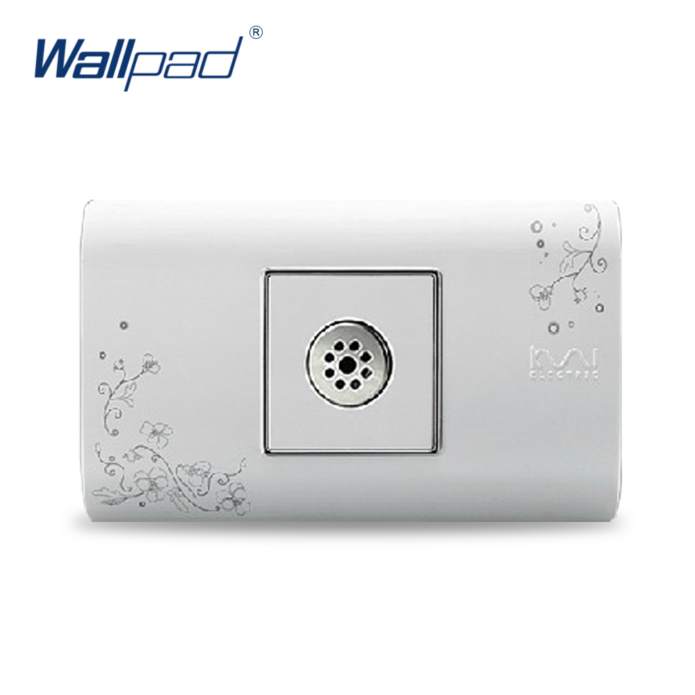 2018 Light And Sound Sensor Switch Plug Socket Hot Sale Wallpad Luxury Wall Switch Panel 118*72mm 10A 110~250V стоимость