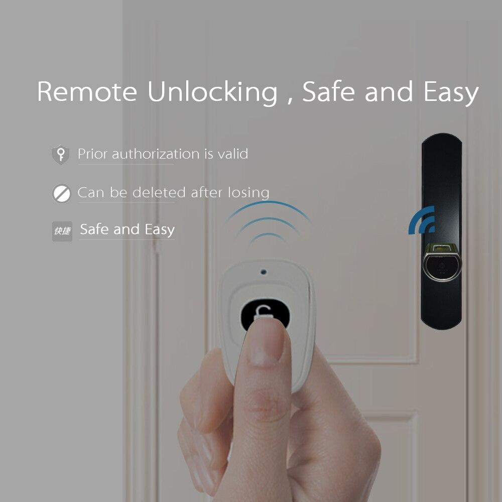 L5SR-Plus Piccolo Bluetooth Intelligente Serratura Elettronica Cilindro Esterno Impermeabile Scanner Biometrico di Impronte Digitali Serrature senza chiave
