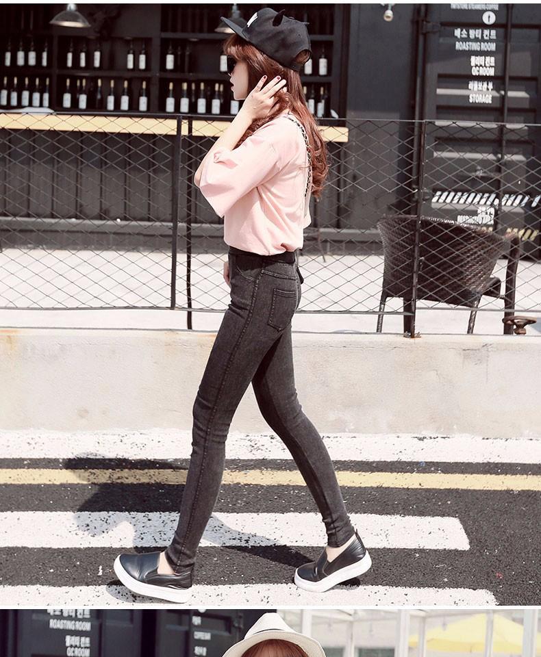BIVIGAOS Fashion Women Casual Slim Stretch Denim Jeans Leggings Jeggings Pencil Pants Thin Skinny Leggings Jeans Womens Clothing 10