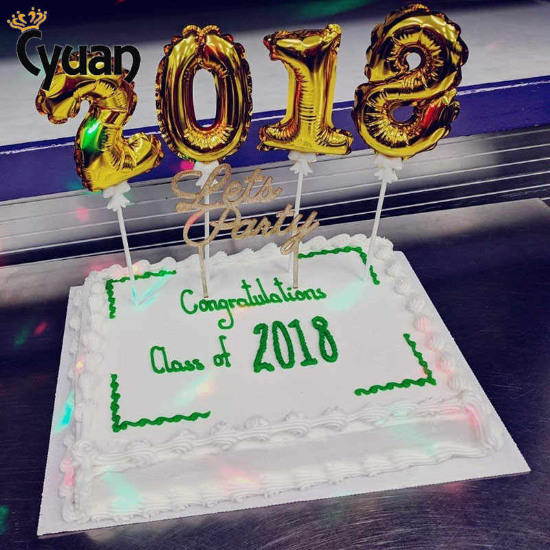 2019 Christmas Foil Balloon Cake Topper Kids Birthday Party Decoration Anniversary Thanksgiving Sweet 16 Decorations