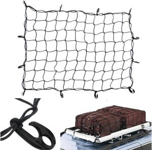 Image 3 - 120 × 90 センチメートル 12 フック車ルーフラック弾性貨物メッシュ特別ラテックス超軽量オフロード車収納ネット固定荷物コード