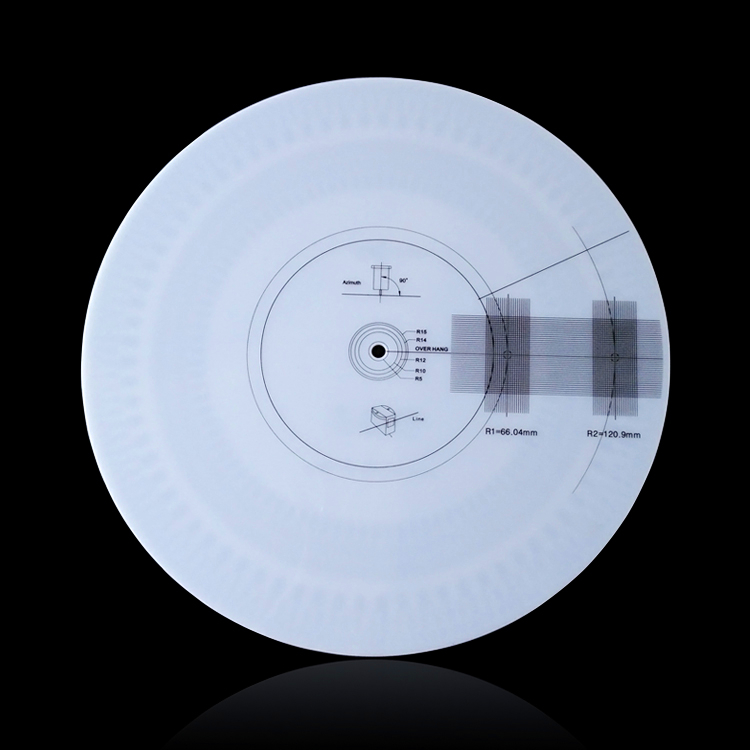 Professionelle Lp Schallplatte Kalibrierung Plattenspieler Phono Drehzahlmesser Kalibrierung Stroboskop Disc Für Gramophone Plattenspieler Unterhaltungselektronik Plattenspieler