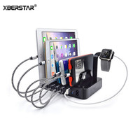 50W 6 Ports USB Charger Desktop USB Charging Station For IPad IPhone Samsung Smart Phones Tablet