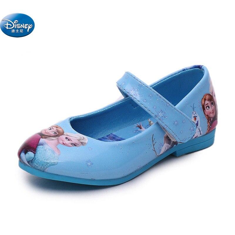 Congelés elsa et anna chaussures simples filles printemps automne nouveau style princesse doux dessin animé décontracté Europe taille 26-36