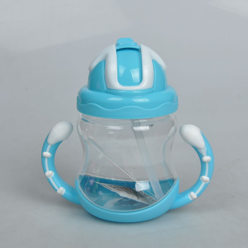 Flaschenzuführung 320 Ml Baby Flasche Kinder Tasse Silikon Sippy Kinder Ausbildung Tassen Nette Baby Trinken Wasser Stroh Griff Fütterung Flasche äSthetisches Aussehen