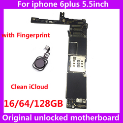 Factory unlocked motherboard with / without touch ID for iphone 6 plus 6Plus 16GB 64GB 128GB IOS logic board original Mainboard