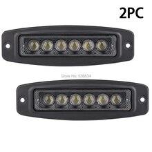 Athiry 2 шт. 6 дюймов 18 Вт светодиодные панели световой индикатор работы лампы Offroad свет дальнего света для внедорожник, ATV, UTV, 4×4, песок рельсы, автомобили