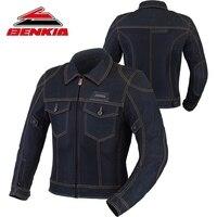 BENKIA Motorcycle Jacket Men Biker Denim Jacket Motocross Biker Jean Jackets Chaquetas Outerwear Jaqueta Moto Protection JC34