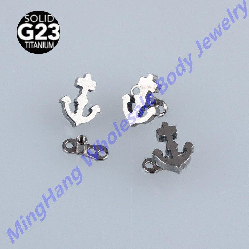 G23 Titanium Micro Dermal Anchor Skin Diver Body Piercing Jewelry