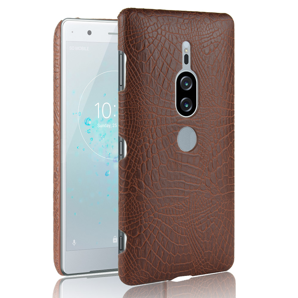 Crocodile Leather Case for Sony Xperia XZ2 Premium Luxury Skin Pattern Cover Shockproof Hard Shell ON Phone Cases Fundas Bag