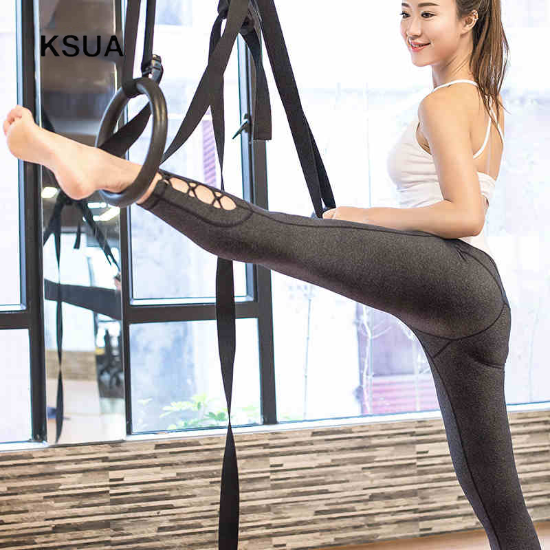 Elasticity Spring Yoga Sport Athletic Leggings Fitness Trousers For Women Women's Yoga Pants Ropa Deportiva Mujer Gym Trousers