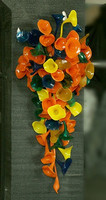 Elegant Luxury Led Light Hallway Hand Blown Glass Flower Wall Lamps