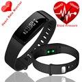 V07 banda inteligente Reloj Pulseras Pulsera Inteligente de La Presión Arterial Monitor de Ritmo Cardíaco Rastreador de Ejercicios Smartband Para iOS Android xaomi
