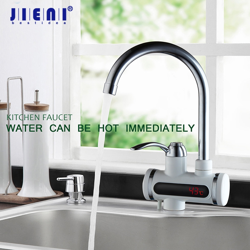 RU Instant Tankless Water Heater Electric Hot Water Faucet Kitchen Faucet Instantaneous Water Heater Faucet with LED EU Plug vams luna instant tankless electric hot water heater faucet with led temperature display eu plug