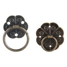 WALFRONT 20Pcs Iron Furniture Handle Drawer Cabinet Desk Door Ring Pull Hardware Drawer Ring Pull Home Decor(China)