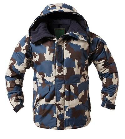 """Премиум """"SouthPlay"""" Зимний Сезон Водонепроницаемый 10000 мм согревающие лыжные и сноубордические коричневые Camoflage куртки - Цвет: Blue Camo Jacket"""