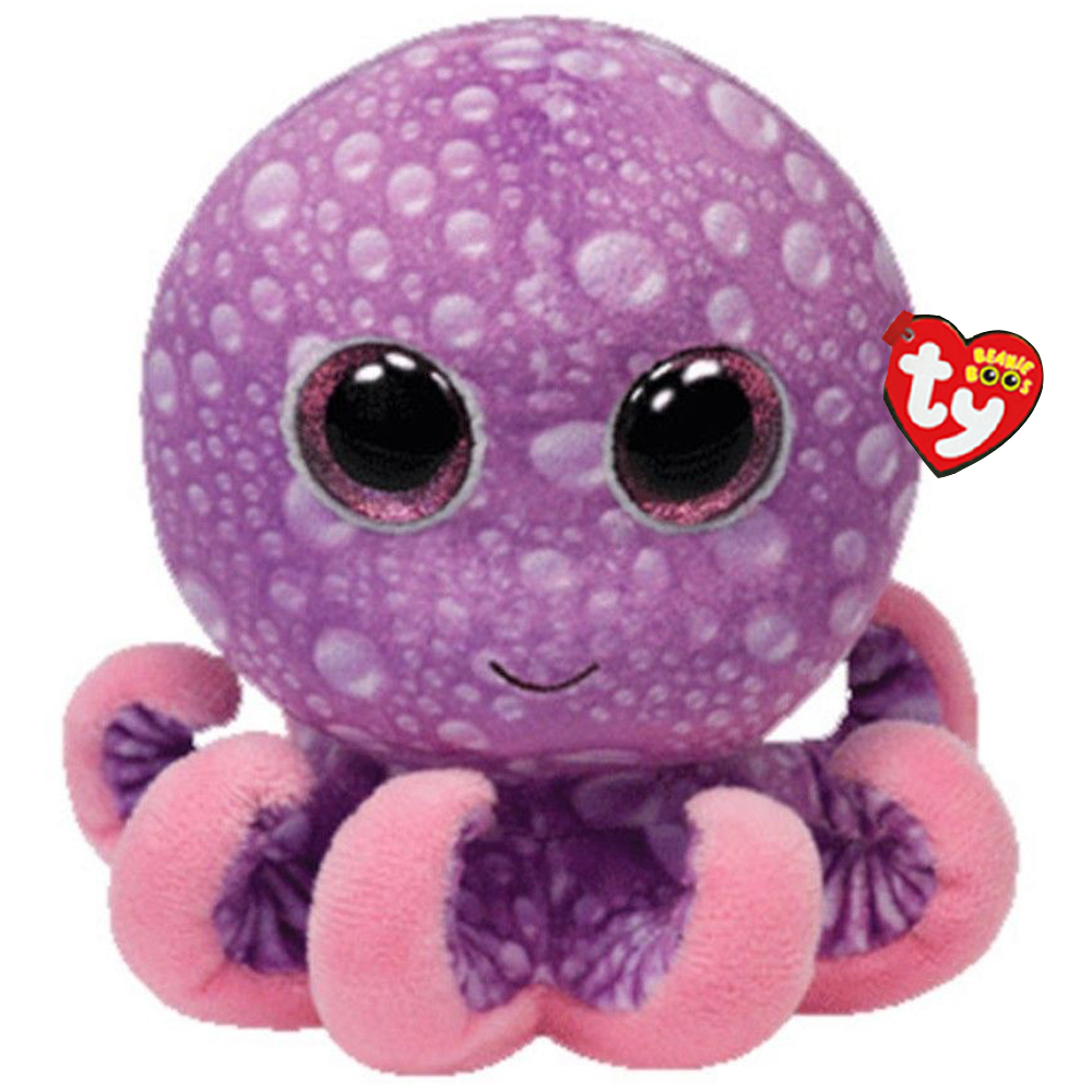 Ty Beanie Boos Purple Octopus Plush Toy Doll Baby Girl Birthday Gift With Tag 6 15cm ...