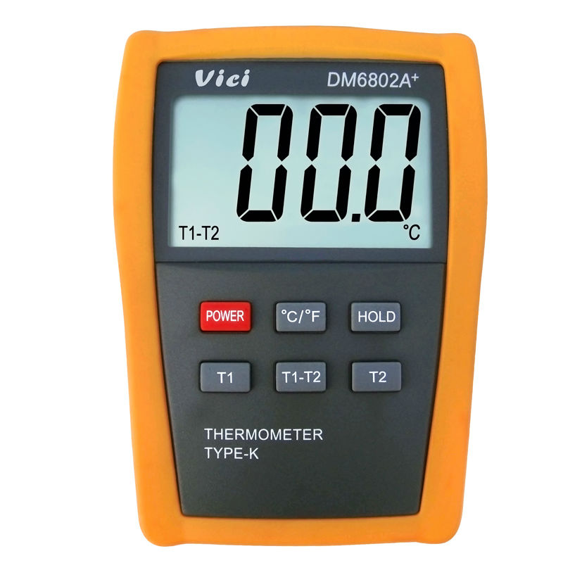 VICI DM6802A+ LCD Digital Thermometer Temperature Meter dual channel K-Type Thermocouple Probes Measuring -50-1300 Degree thermostat car thermometer digital thermometer humidity u0026 temperature meter gm1361 can be accessed by k type thermocouple