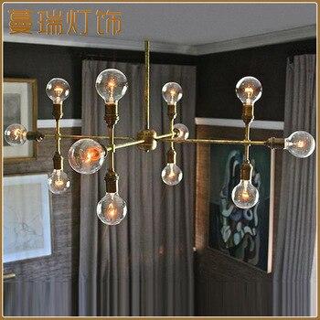 Nordic moderno stile della sfera di vetro bolla di ferro a spina di pesce ramo luce del pendente soggiorno camera da letto ristorante bar di illuminazione a sospensione