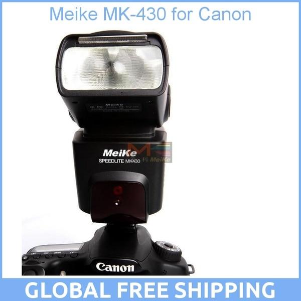 Meike MK-430 MK430 TTL Flash Speedlite for All Canon Camera 430EX II EOS 5D III 6D 60D 450D 500D 550D 600D 650D 700D 1000D 1100D meke meike mk 580 ttl camera flash speedlite for canon 580ex ii eos 5d mark ii iii 6d 7d 60d 600d 700d diffuser