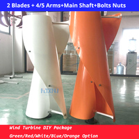Hot 1.05M1.3M blades for vertical 100w 200w 300w 400w 500w 600w 1kw wind turbine generators with all color for DIY wind turbine