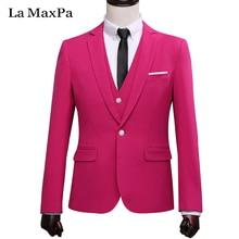 LA Maxpa (jacket+pants+vest) New brand men suit wedding suit for man spring autumn male singer slim fit prom groom dress suit