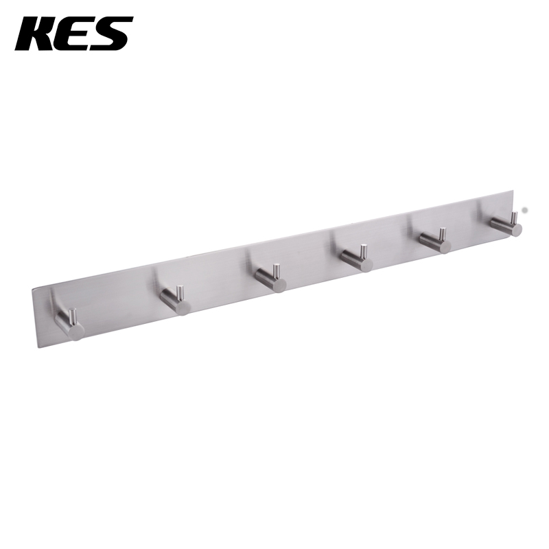 KES Bathroom Self Adhesive Coat And Robe Hook Rack/Rail With 6 Hooks  Brushed Finish, SUS304 Stainless Steel, A7060H6 In Robe Hooks From Home  Improvement On ...