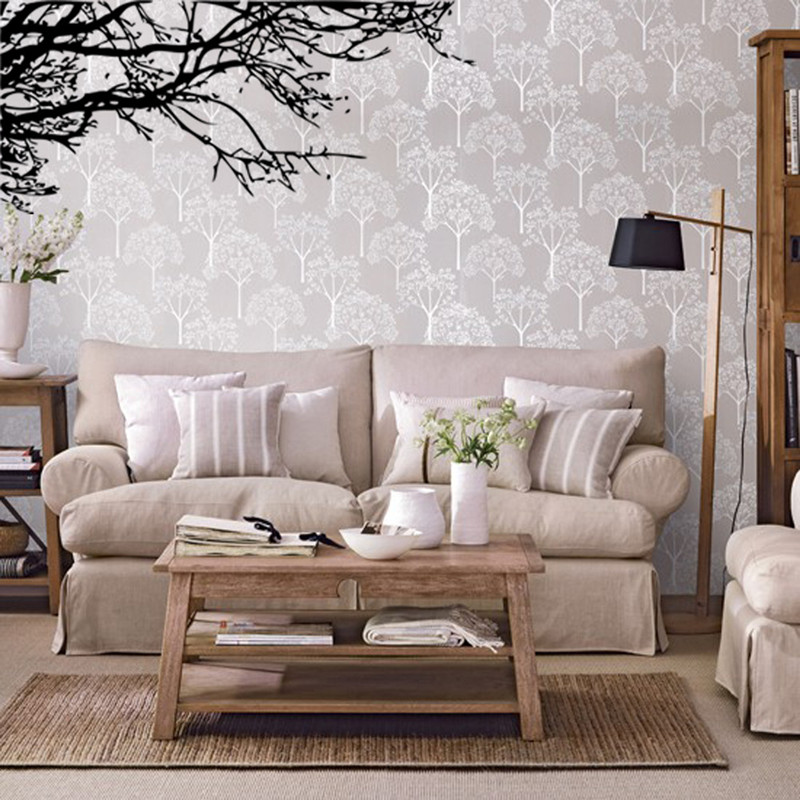 60*140cm Home Supplies Unique Sitting Room Living Room Decorative Wall  Stickers Black Tree Branch