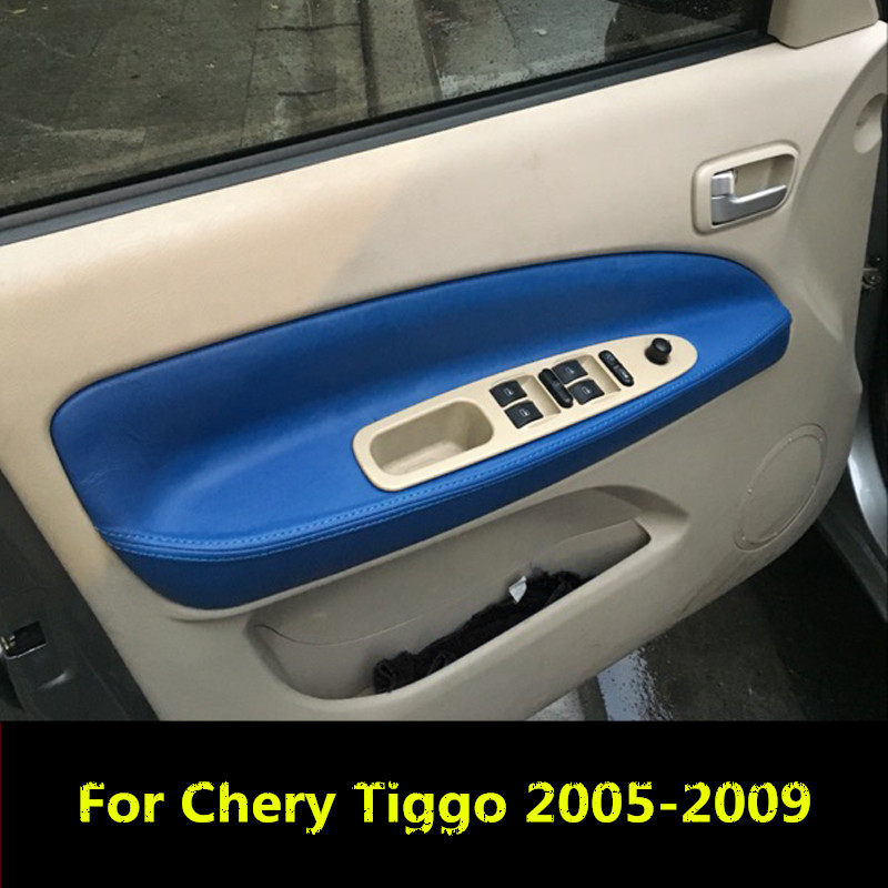 4x Stainless Ring Door Armrest Handle Blue Frame Cover For Ford Focus 2011-2016