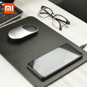 Image 1 - Коврик для мыши Xiaomi MIIIW QI, коврик для беспроводной зарядки из поликарбоната для iPhone, Samsung, Xiaomi, Huawei, быстрое зарядное устройство