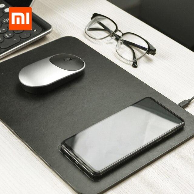 Коврик для мыши Xiaomi MIIIW QI, коврик для беспроводной зарядки из поликарбоната для iPhone, Samsung, Xiaomi, Huawei, быстрое зарядное устройство