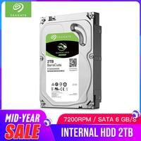 Seagate 2TB Desktop HDD Internal Hard Disk Drive Original 3.5 '' 2 TB 7200RPM SATA 6Gb/s Hard Drive For Computer PC ST2000DM008