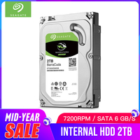 Seagate 2TB Desktop HDD Internal Hard Disk Drive Original 3.5 '' 2 TB 7200RPM SATA 6Gb/s Hard Drive For Computer PC ST2000DM008