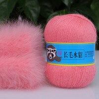 Top Grade 100 CASHMERE Mink Yarns Wholesale Fur Mink Sweater Coat Scarf Hand Knitting Yarn 200g